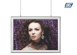 Good Quality Snap Frame Light Box & Wall Photo Frames Aluminum Wall Photo Frames Ceiling Hanging Picture Holder on sale