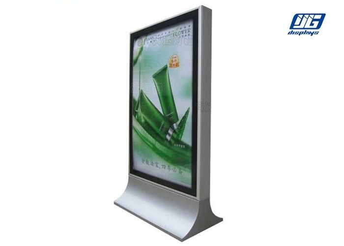 Stainless Steel Frame Free Standing Display Boards Customized Shape Door Open Type