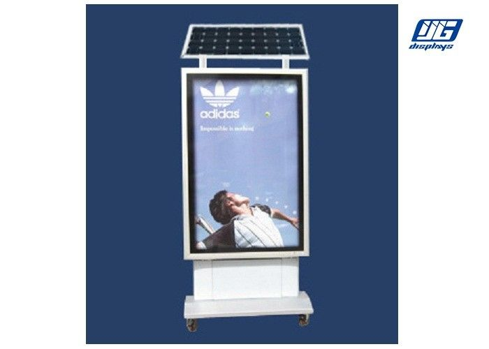 Lockable Solar Powered Light Box , Outdoor Advertising Light Box For Street Pillar