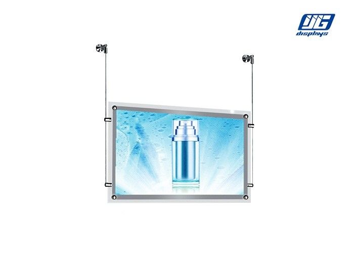 Double Sided Acrylic Crystal Light Box Display 5W Ultra Thin Frame Hanging Type