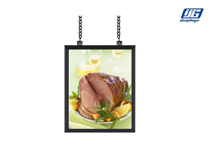 Chain Hanging Snap Poster Frames , Double Sided Wide View Angle Menu ...