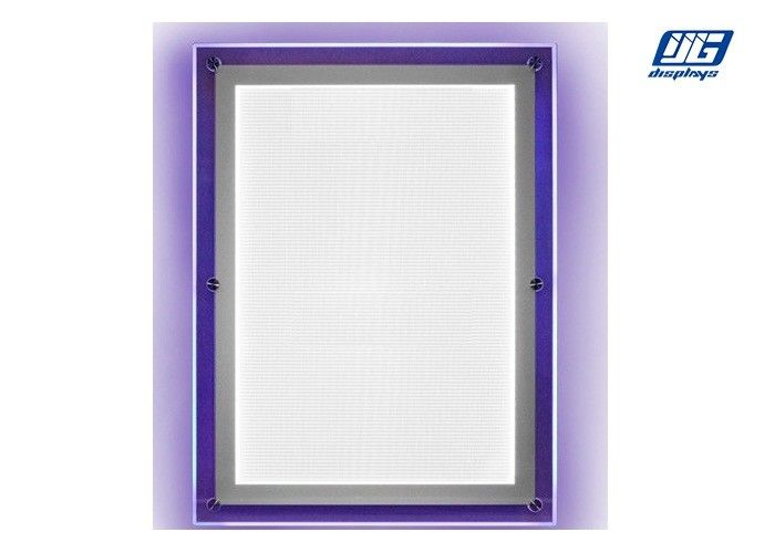 Clear Profile Crystal LED Light Box Wall Mounted High Brightness 12mm Thickness