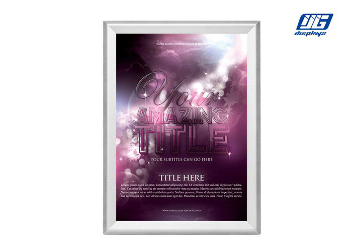 Customized Size Silver Durable Aluminum Snap Poster Frame