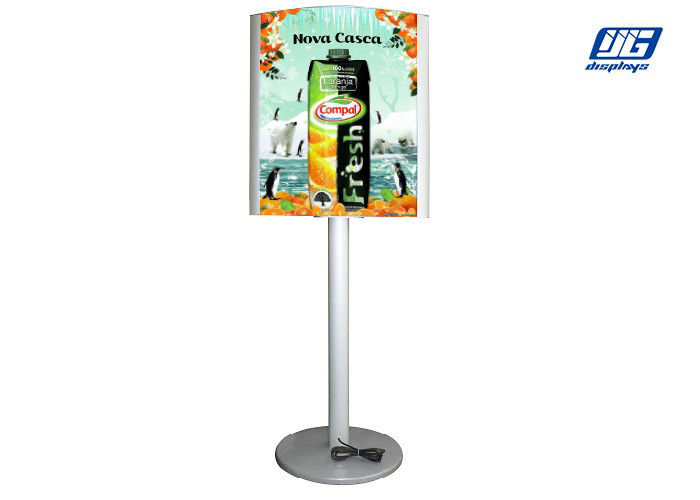 Silver Frame Double Side Illumination Poster Frames For Indoor Advertising