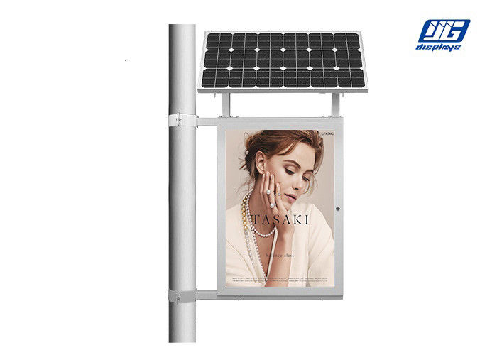 Single Side Pole Mounting Solar Energy LED Poster Display Light Box 2835 SMD LED Source