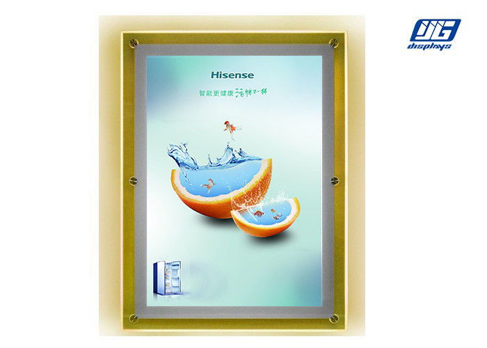 Super Thin Clear Acrylic Advertising Light Box A4 6000 - 6500K Energy Saving