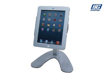 Silver Tablet IPad Display Stand , Securityipad Stand Holder For IPad Mini 2,3,4