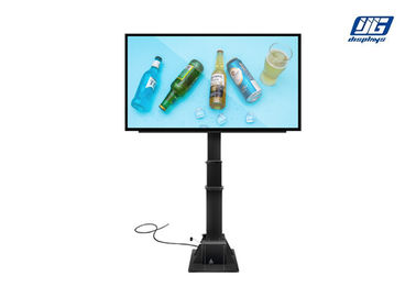 P6 Outdoor Hydraulic Pole Advertising LED Screen Player Floor Standing