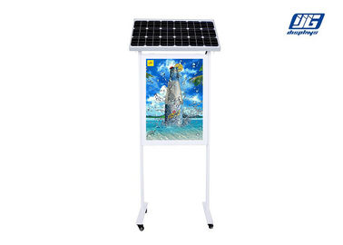 Double Side Adjustable Solar Panel LED Light Box Stand Energy Saving