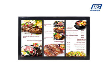 Black Frame Wall Mounting 43'' LCD Multi Screen Display Area Advertising Player