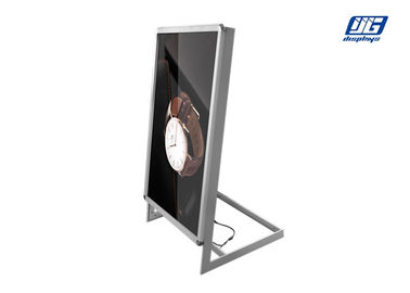 L Shape Single Side A2 Poster Display Stands , SMD 2835 LED Backlit Picture Frame