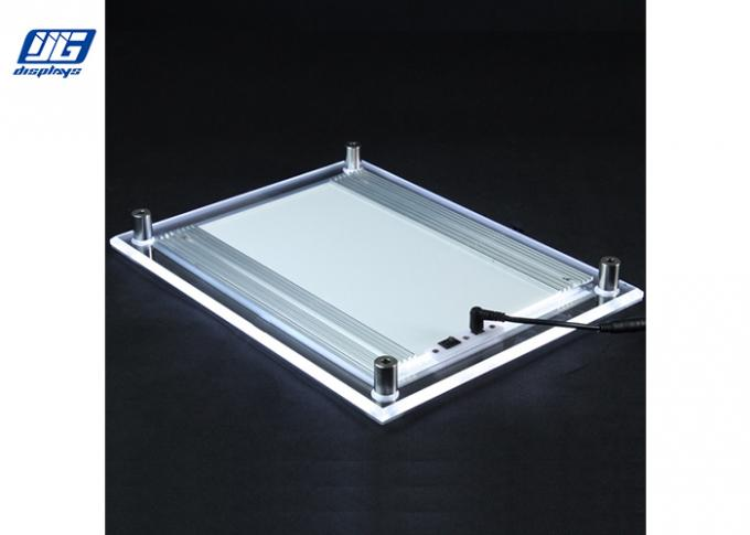 a0 size crystal led light box clear acrylic magic edge