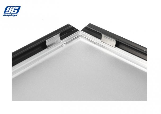 Black Aluminum Clip Open Snap Poster Frames Smooth Anti - Scratches
